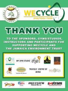 "The ""WeCycle"" Spin/Yogathon was an effective fund-raiser for Jamaica Environment Trust earlier this year."