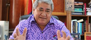 The Prime Minister of Samoa, the host country, has a wonderful name: Tuilaepa Lupesoliai Sailele Malielegaoi. Don't ask me to  pronounce it!