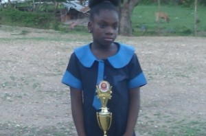 A quiet young hero: Ms. Toni-Ann Miller, aged eleven. (Photo: Jamaica Information Service)