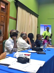Caribbean journalists at last week's media training workshop.
