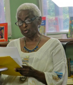 The third voice we heard reading was Jean Small's, deep and evocative.