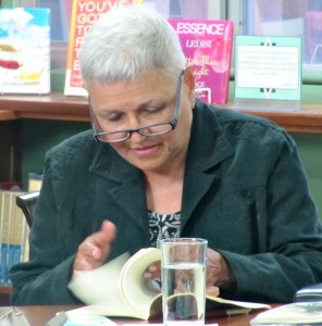 Pamela Mordecai seeks out the next poem to read.
