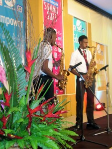 And did I mention that members of the Alpha Boys' Band played for us? I for one wished their performance had been longer.
