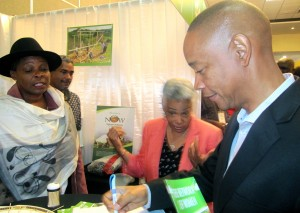 The Private Sector Organization of Jamaica's Executive Director Dennis Chung found the Network of Women's mushrooms quite delicious at the SEBI Marketplace, by the way.