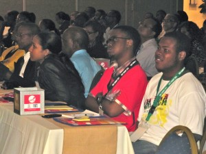 Participants listened intently to all the speakers and were at times quite vocal and energetic in their responses.