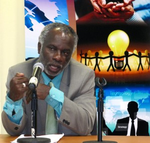 "Ralston Hyman wants Jamaicans to stop the ""rent-seeking behavior."" (My photo)"