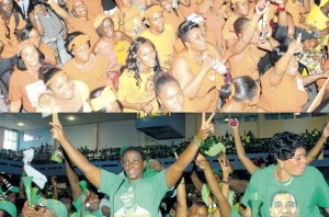 The carefree, anything goes atmosphere at political rallies. Politicians can (and do) spout any nonsense they want. (Photo: Jamaica Observer)