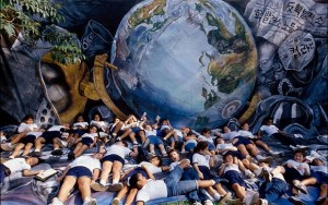 At the Earth Summit in Rio, 1992: Brazilian schoolchildren demonstrate their concern for the Earth. Pericles Maillis says science and research has advanced considerably since then…But what about work on the ground, at grassroots level? Less progress made. (Photo: Getty Images)