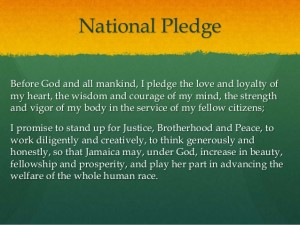 Jamaica's National Pledge is beautiful, but reciting poems and songs doth not an independent person make.