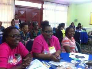 Participants in the ongoing PowHERhouse training with WMW Jamaica. (Photo: WMW/Twitter)