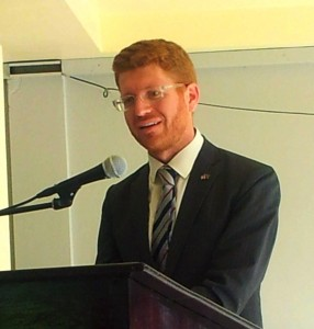 "Joshua Polacheck: ""Equal citizenship for all Jamaicans is the goal."" (My photo)"