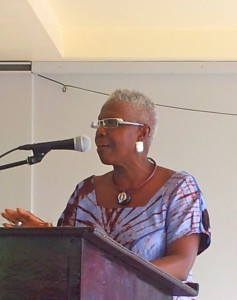 Professor Carolyn Cooper thinks the patriarchy is firmly entrenched in Jamaica. (My photo)