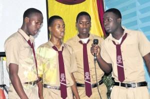 Students perform at Mr. Graham's inauguration as Principal recently. (Photo: Gleaner)