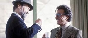 "Robert Di Niro and Dustin Hoffman in the 1997 film ""Wag the Dog."""