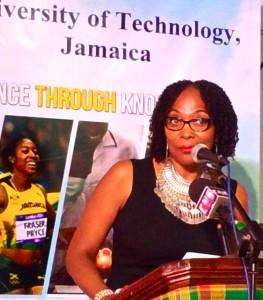 Professor Rosalea Hamilton is Project Director for Fi Wi Jamaica at UTech. (My photo)