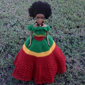 The same very skinny body type again… This is the newest Jamaican doll, which Gleaner columnist Michael Abrahams wrote about.