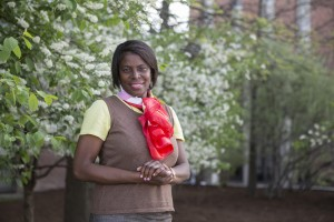 Anne C Bailey, Associate Professor of Africana Studies and History at the Harpur College of Arts and Sciences, SUNY Binghamton, photographed along the DeFleur Walkway, May 12, 2014. Dr. Bailey studied English and French at Harvard and obtained her Ph.D. in African History and African Diaspora Studies at the University of Pennsylvania.