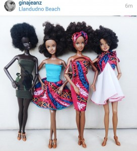 I saw these multiracial South African dolls on Twitter the other day. Skinny, of course!