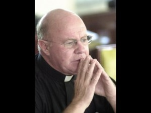 Monsignor Richard Albert, deep in thought. Jamaica will miss him.