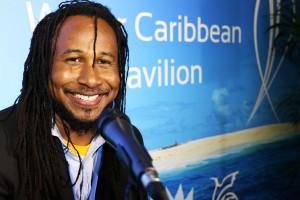 Aaron Silk at the Caribbean Pavilion in Paris last December.