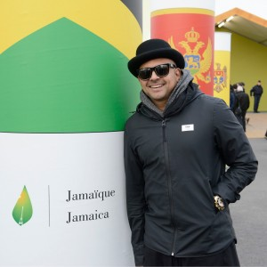 Sean Paul jetted into Paris too for COP21. I don't think he performed but hope he contributed something positive. (Photo: UNFCC)