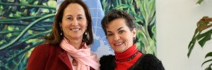 Women for climate change: New COP21 President Segolene Royal (left) met with UNFCCC Executive Secretary Christiana Figueres for the first time on February 22 in Bonn. (Photo: UNFCC)