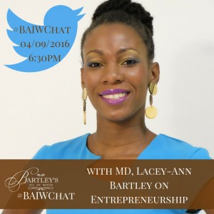 Lacey-Ann Bartley's tweet chat.