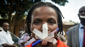Ugandan journalists protest abuse and harassment during the election period. (Photo: Michele Siblioni (AFP/File)