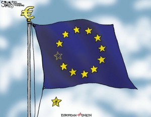 The UK is falling off this flag. Will others follow? Or will Scotland replace the UK among the stars?