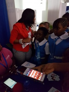 It was so good to see the younger generation at the Social Good Summit. Here, eager students from Jesse Ripoll Primary School learn more about Connec Mobile Wallet, an innovative Jamaican tech company. (Photo: Facebook)