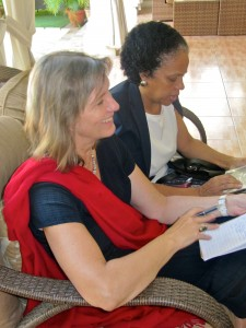 UN Human Rights Advisor Birgit Gerstenberg (foreground) at a UN meeting in Kingston two years ago. (My photo)