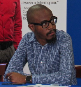 Kingston ambition: Young media entrepreneur Tyrone Wilson is an example of the growing small business culture in Kingston. (My photo)
