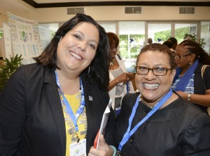 Two brilliant and dedicated women: General Manager of the JN Foundation Saffrey Brown (left) and Ruth Weller Jankee of the Rose Town Foundation for the Built Environment, at SEBI Summit 2017. (Photo: JN Foundation)