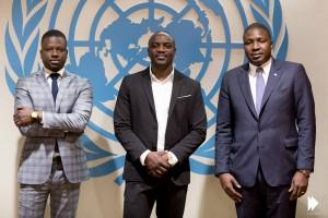 Akon Lighting Africa - the team: (l-r) Thione Niang, Akon, Samba Bathily.