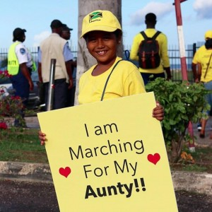 Seven year-old Zuri has participated in every Endo March - in support of her aunty. #haffiknowbout is the hashtag here!