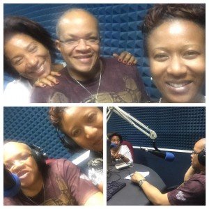 Shauna Fuller Clarke (right, at the top) with counsellor Karen Carpenter and gynaecologist Michael Abrahams, enlightening the public on endometriosis on Nationwide radio recently. (Facebook)