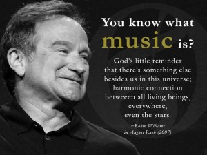 Really not a bad definition, from another immortal, Robin Williams.
