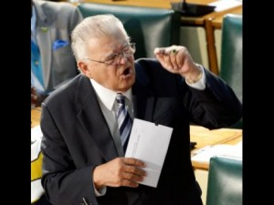 Please stop shouting, Minister Samuda. I'd like to think our politics has gone beyond this kind of posturing. (Photo: Ian Allen/Gleaner)