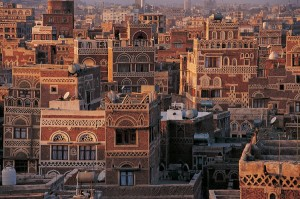 Look at this architecture! The Old City of Sana'a is a UNESCO World Heritage Centre. Its many mosques and houses, made of rammed earth, were all built before the 11th century. (Photo: Editions Gelbart)