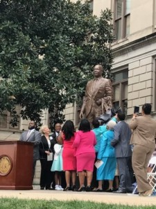 The unveiling of a statue of Dr. Martin Luther King, Jr. outside the Georgia State Capitol in Atlanta.