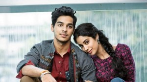 "Born with Bollywood spoons in their mouths: ""star kids"" Ishan Chattar (left) and Jahnvi Kapoor are the children of movie stars and walked into their roles in a film called ""Dhadak."""