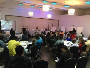 A part of the room of well over 50 participants in last week's Visioning Workshop. (My photo)