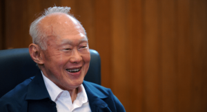 Singapore's founding father and renowned leader, Lee Kwan Yew. The country's forecast 2018 growth rate is a modest 2.5  - 3.5 %. (Photo: The Online Citizen)