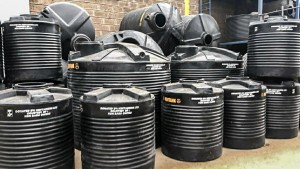 Water tanks donated in Kenya during the COVID-19 crisis. (Photo: Twitter)