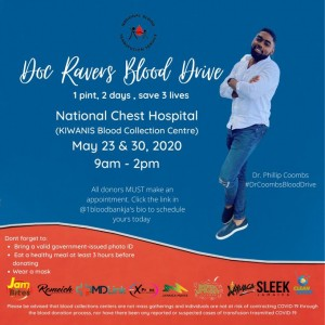 Kudos to that very cool young doctor, Phillip Coombs, for holding two blood drives. I hope the turnout was good!